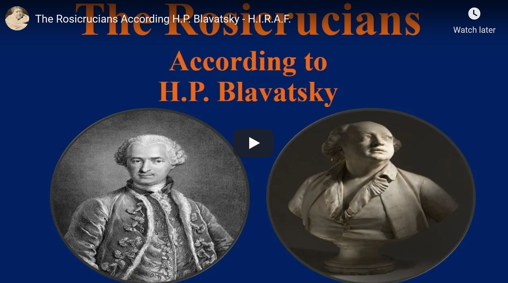 The Rosicrucians According H.P. Blavatsky